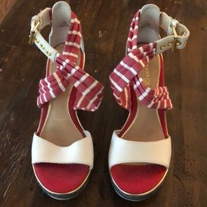 Sperry Sandals -red white and blue espadrilles